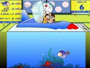 chơi game Doremon câu cá